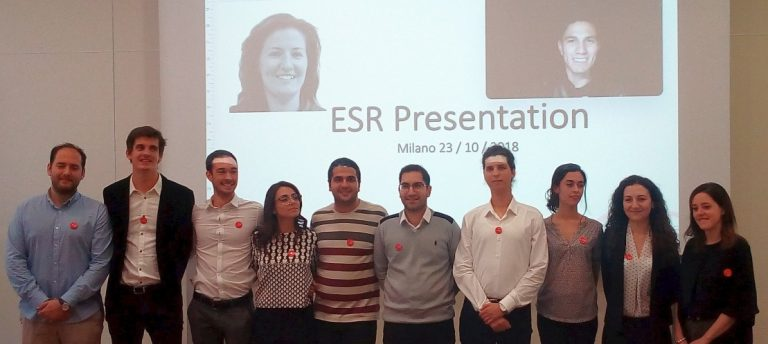A picture of the 12 ESRs at the Introductory Event in Milan